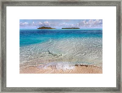 The Gentle Power Of Water. Maldives Framed Print by Jenny Rainbow