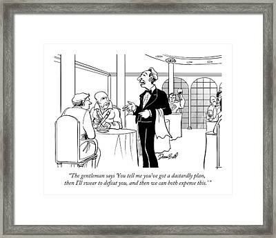The Gentleman Says 'you Tell Me You've Got Framed Print