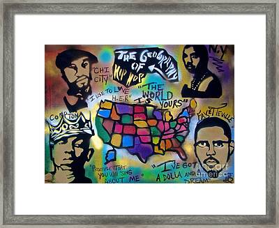 The Geography Of Hip Hop Framed Print by Tony B Conscious