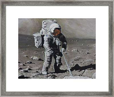 The Geologist- Harrison Schmitt. Apollo 17 Framed Print by Simon Kregar