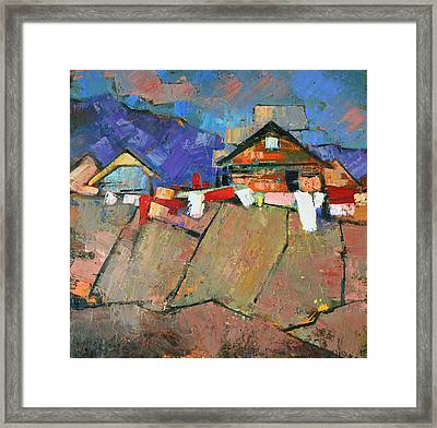 The Geometry Of The Carpathians Framed Print by Anastasija Kraineva