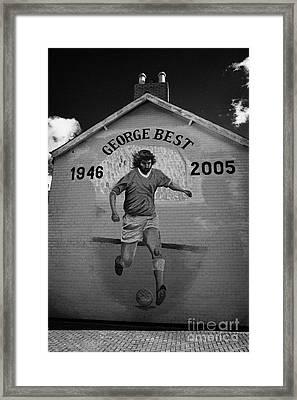 The George Best Memorial Mural On The Lower Cregagh Road In Belfast Northern Ireland Framed Print by Joe Fox