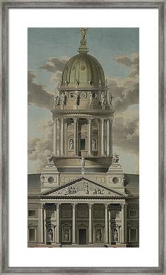 The German Cathedral On The Gendarmenmarkt Framed Print by GF Kluge