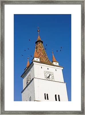The German Fortified Church Of Harman Framed Print by Martin Zwick