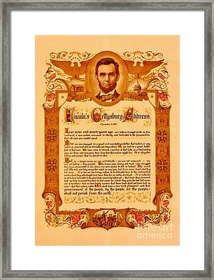 The Gettysburg Address Framed Print by Bob Sample