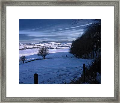 Framed Print featuring the painting The Geul Valley Near Epen by Nop Briex