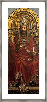 The Ghent Altarpiece Open  Framed Print by Jan Van Eyck