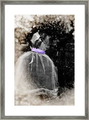 The Ghost In The Garden Framed Print by Image Takers Photography LLC - Carol Haddon
