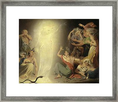 The Ghost Of Clytemnestra Awakening The Furies Signed Framed Print by Litz Collection