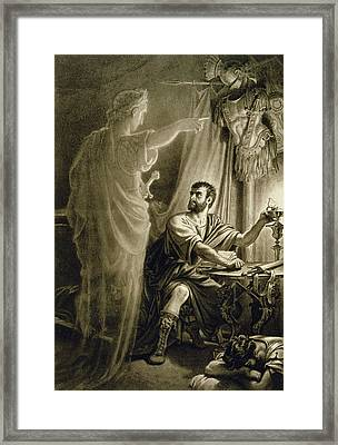 The Ghost Of Julius Caesar, In The Play Framed Print
