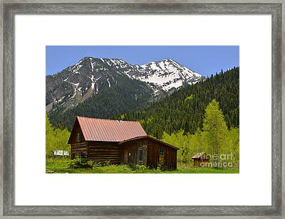 The Ghost Town Of Crystal Framed Print