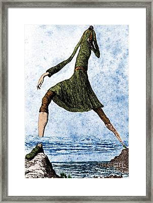 The Giant Bolster, Legendary Creature Framed Print by Photo Researchers