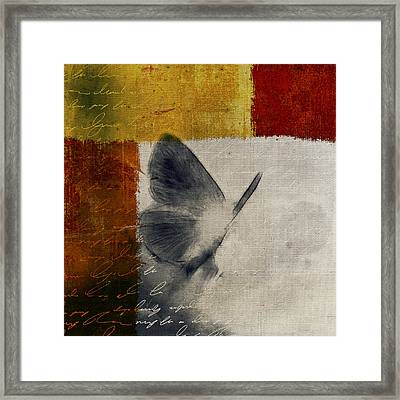 The Giant Butterfly And The Moon - S09-22cbrt Framed Print