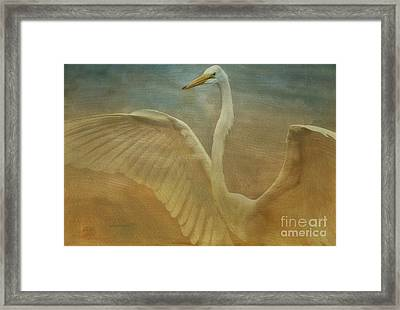 The Giant E Framed Print by Deborah Benoit