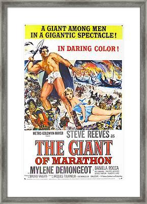 The Giant Of Marathon Aka, La Battaglia Framed Print by Everett