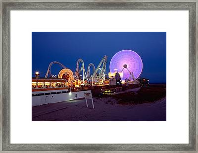 The Giant Wheel At Night  Framed Print by George Oze