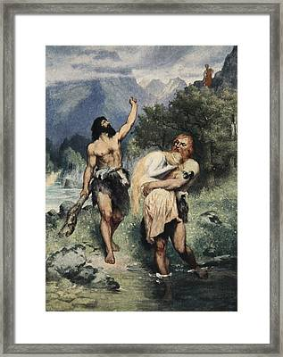The Giants Bore Freia Away, From The Framed Print by Ferdinand Leeke