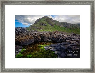 The Giant's Causeway - Peak And Pool Framed Print by Inge Johnsson