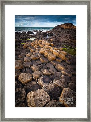 The Giant's Causeway - Rocky Road Framed Print by Inge Johnsson