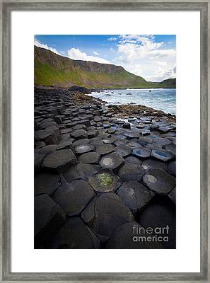 The Giant's Causeway - Staircase Framed Print by Inge Johnsson