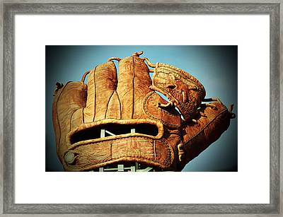 The Giants Glove Framed Print by Holly Blunkall