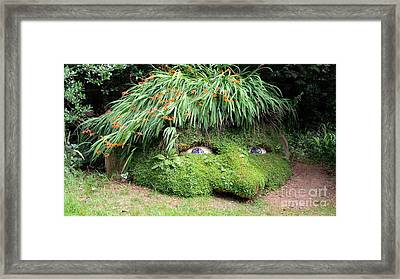 The Giant's Head Heligan Cornwall Framed Print