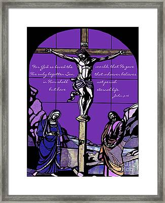 The Gift Framed Print by Methune Hively