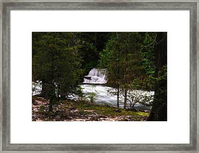 The Gift Of A Hidden Wterfall Framed Print by Jeff Swan