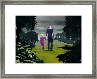 Framed Print featuring the digital art The Gift Of Being 'daddy' by John Alexander