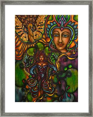 The Gift Of Lady Phoenix Framed Print by Marie Howell Gallery