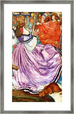 The Gilded Apple Framed Print by Eleanor Fortescue Brickdale