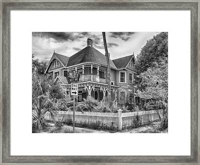 Framed Print featuring the photograph The Gingerbread House by Howard Salmon