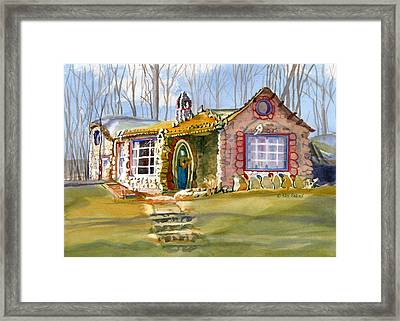 The Gingerbread House Framed Print by Kris Parins