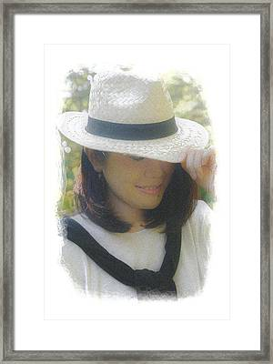 The Girl In The Straw Hat Framed Print