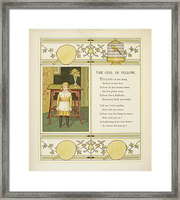 The Girl In Yellow Framed Print by British Library