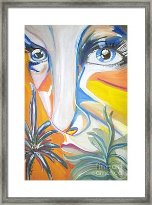 The Girl Framed Print by Judy Morris