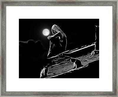 The Girl On The Roof Framed Print by Steve K