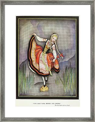 The Girl Who Trod On A Loaf Framed Print by British Library