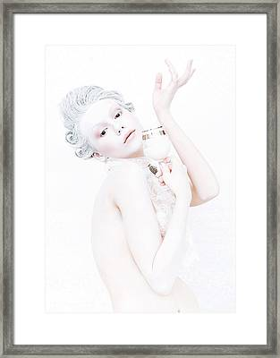 The Girl With A Glass Of Milk Framed Print by Evgeniy Lankin