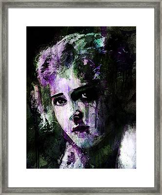 The Girl With The Curls Framed Print