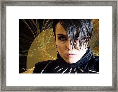 The Girl With The Dragon Tattoo Framed Print by Sylvia Thornton