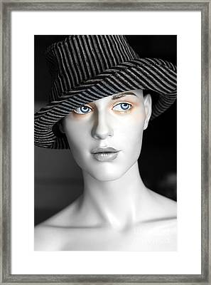 The Girl With The Fedora Hat Framed Print by Sophie Vigneault
