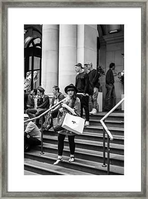 The Girl With The Fringe Framed Print by Paul Donohoe