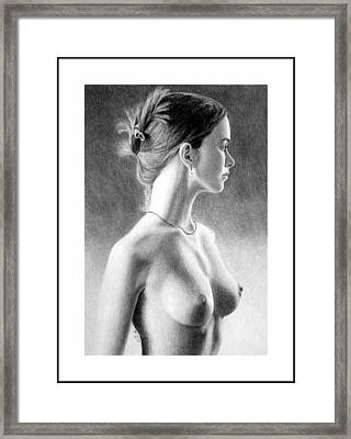 The Girl With The Glass Earring Framed Print by Joseph Ogle