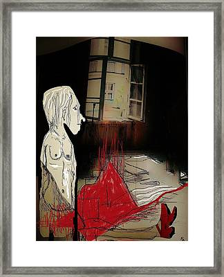 The Girl With The Red Shoes Framed Print by Franziska Kolbe