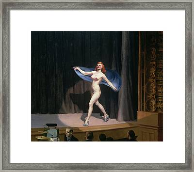The Girlie Show Framed Print by Edward Hopper
