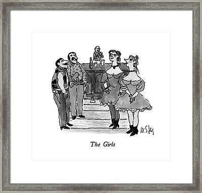 The Girls Framed Print by William Steig