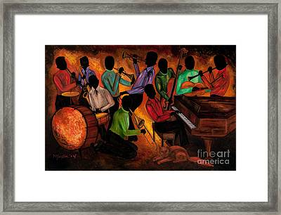 The Gitdown Hoedown Framed Print by Larry Martin