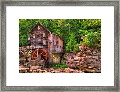 The Glade Creek Grist Mill Framed Print by Gregory Ballos