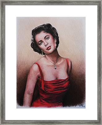 The Glamour Days Elizabeth Taylor Framed Print by Andrew Read